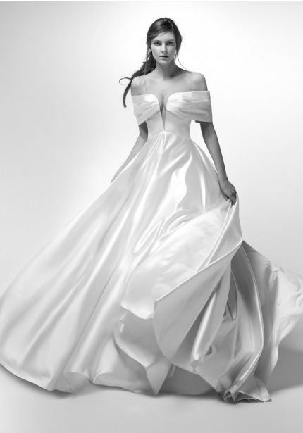 Off-Shoulder Ball Gown