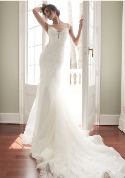 Tulle Wedding Dress with Sheer Back