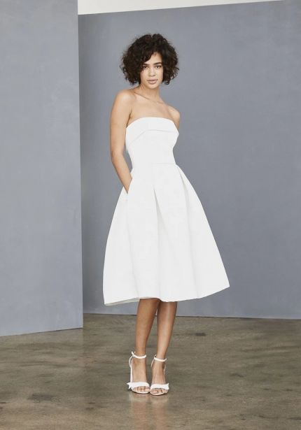 Short Faille Wedding Dress