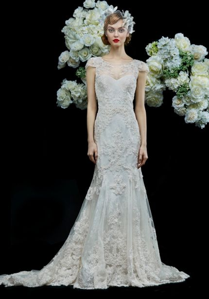 Beaded Wedding Dress with Sheer Back