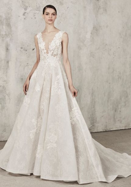 Voluminous Lace Ball Gown