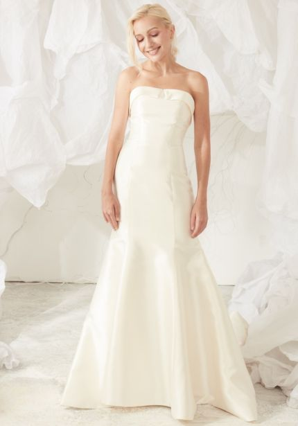 Strapless Satin Wedding Dress