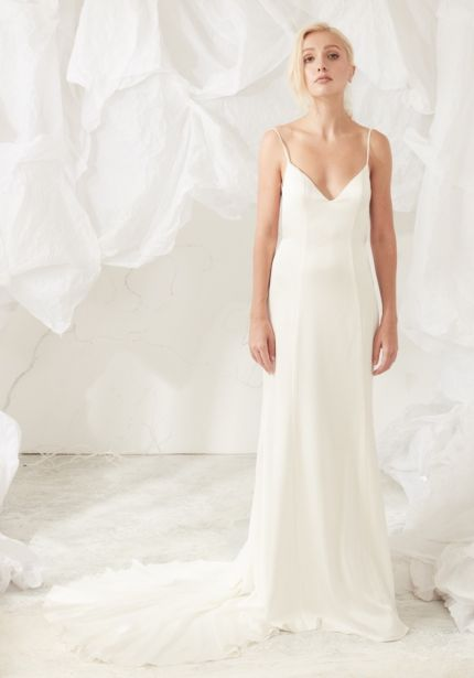 Slip Dress with Plunging Back