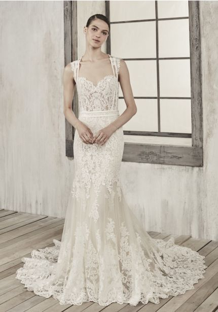 Lace Wedding Dress With Sheer Back
