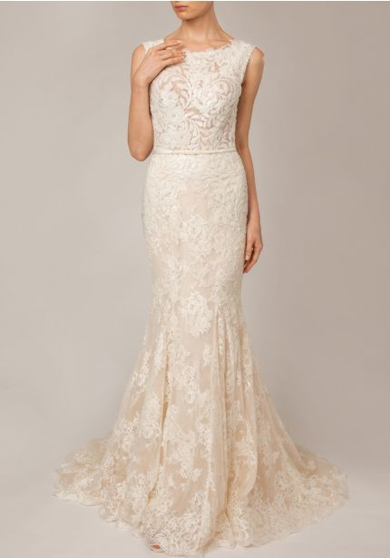 Lace Wedding Dress With Plunging Back