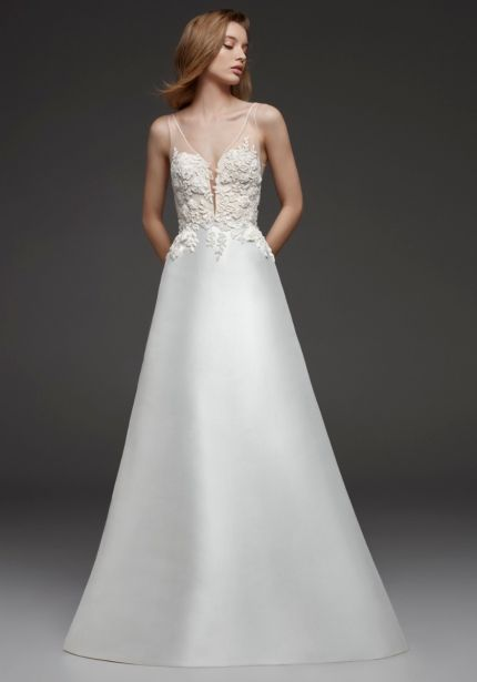 Two-in-One Mikado Gown