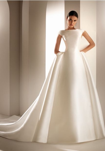 Mikado Ball Gown With Open Back
