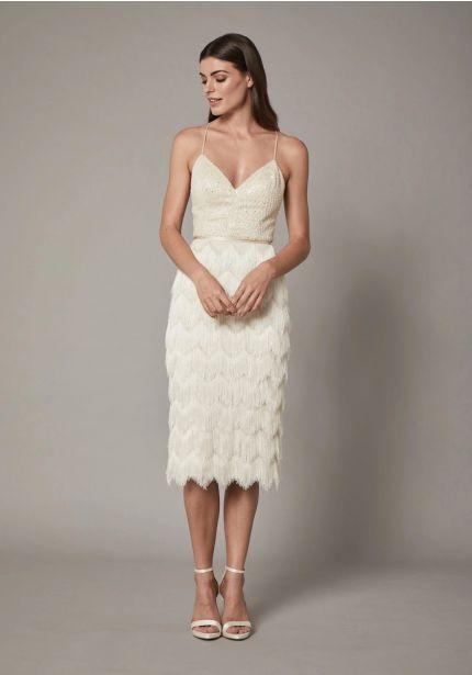 Beaded Short Fringes Dress