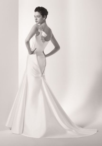 Beaded Satin Wedding Dress