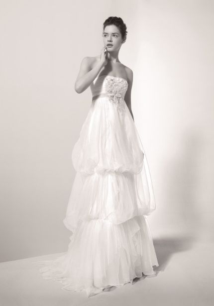 Beaded Tiered Wedding Dress