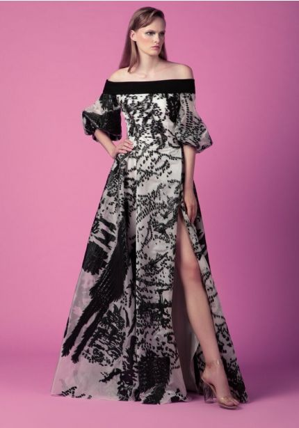 High Slit Printed Gown