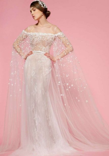 Floral Blossom Lace Wedding Dress