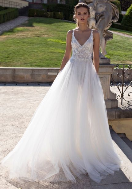 Sequined Tulle Wedding Dress