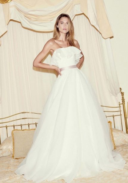 Organza Ruffle Ball Gown