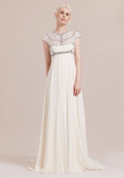 Empire Waist Chiffon Wedding Dress