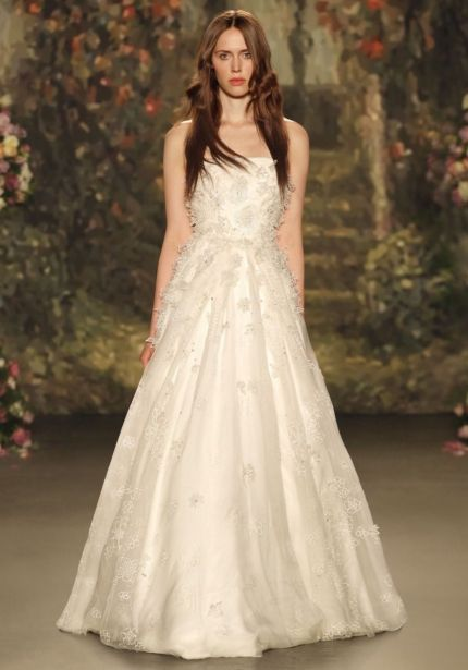 3D Flowers Strapless Ball Gown