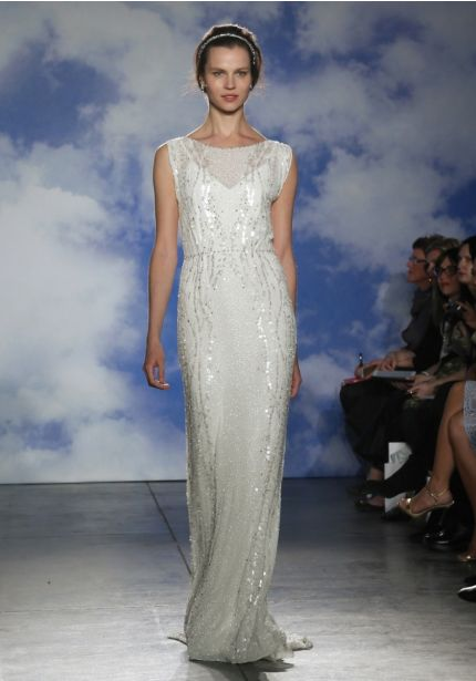 Heavily Beaded Chiffon Wedding Dress