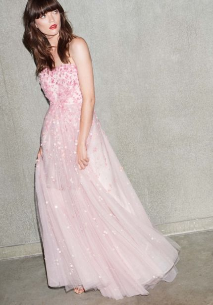 Floral Blossom Tulle Gown
