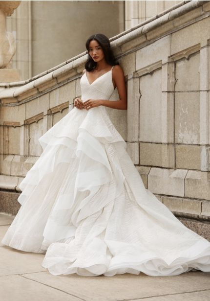 Sparkle Tulle Ruffle Ball Gown