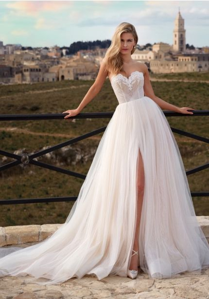 Fairytale High Slit Wedding Dress