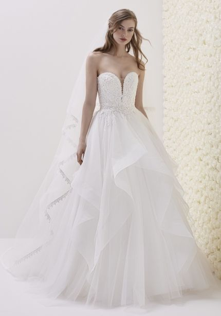 Embellished Strapless Ball Gown
