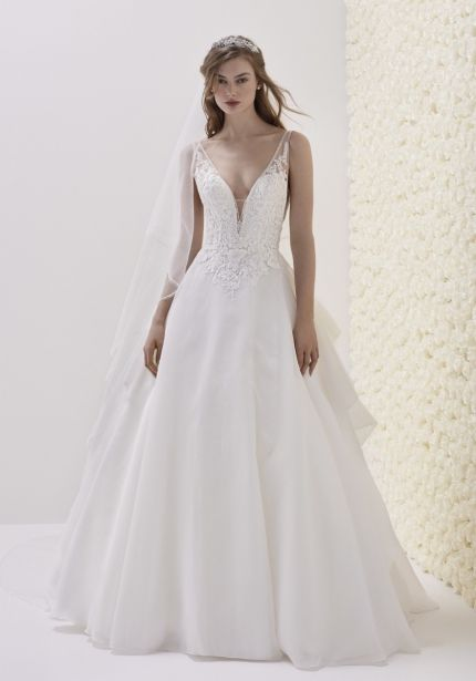 Beaded Organza Ball Gown