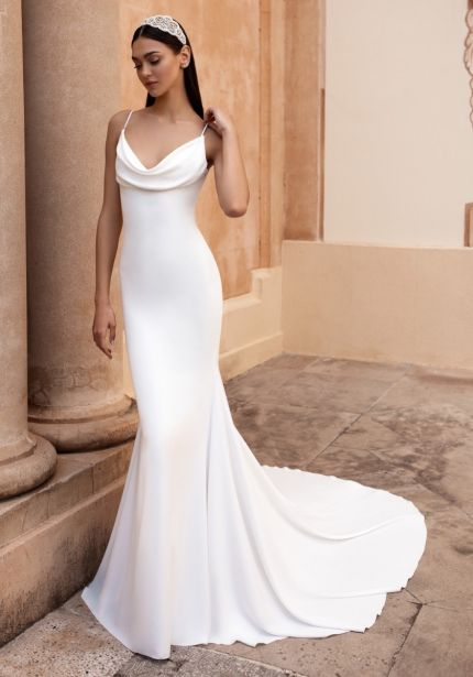 Mermaid Wedding Dress with Thin Straps