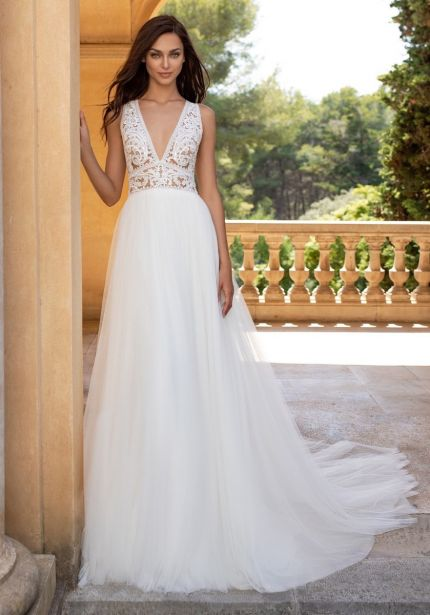 Beaded Tulle Wedding Dress