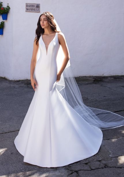 Mikado Wedding Dress with Keyhole Back