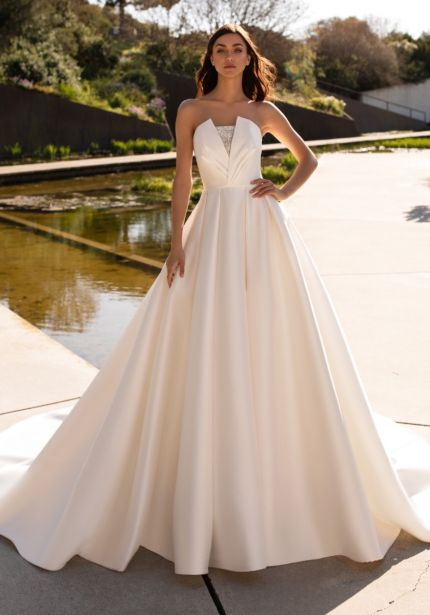 Beaded Mikado Ball Gown