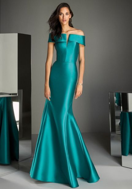 Minimalist Mikado Evening Gown