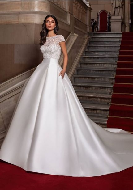 Tailored Mikado Ball Gown