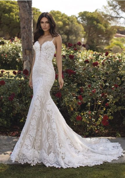 Lace Wedding Dress With Thin Straps