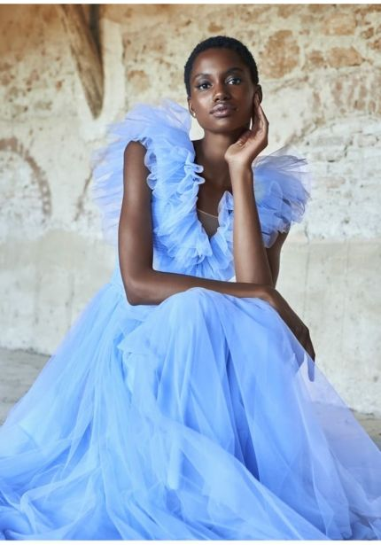 Dramatic Ruffle Tulle Gown