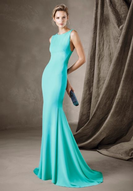 Cross Back Mermaid Crepe Dress