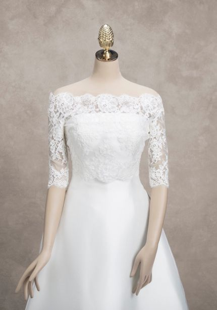 Embroidered Mid-Sleeves Bridal Jacket