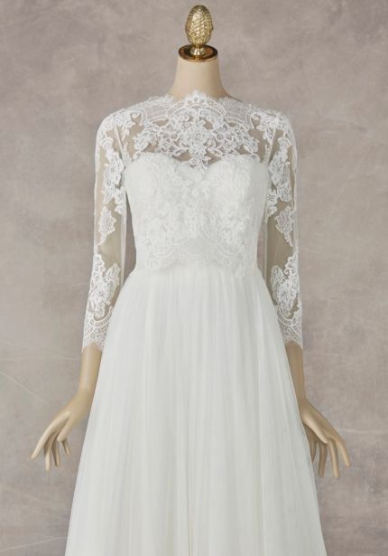 Long Sleeves Bridal Lace Jacket