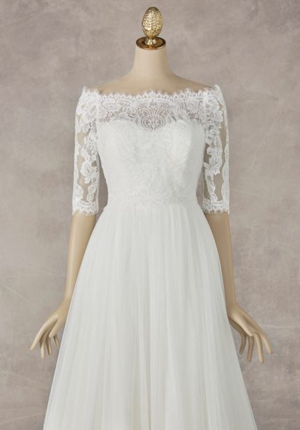 Mid-Sleeves Bridal Lace Jacket