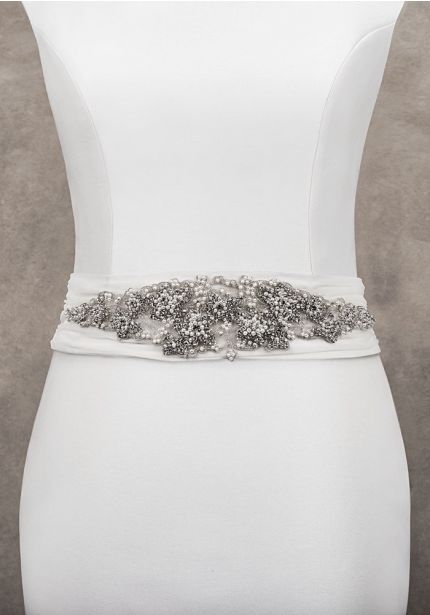 Embellished Wedding Sash
