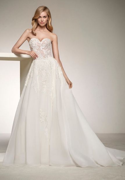 Strapless Organza Wedding Dress