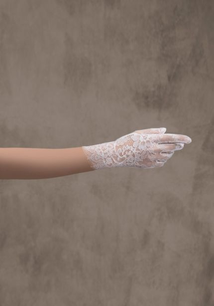 Short Wedding Lace Gloves