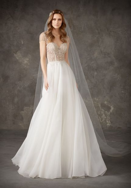 Jewel Encrusted Organza Wedding Dress