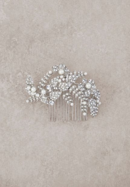 Antique Silver Bridal Comb