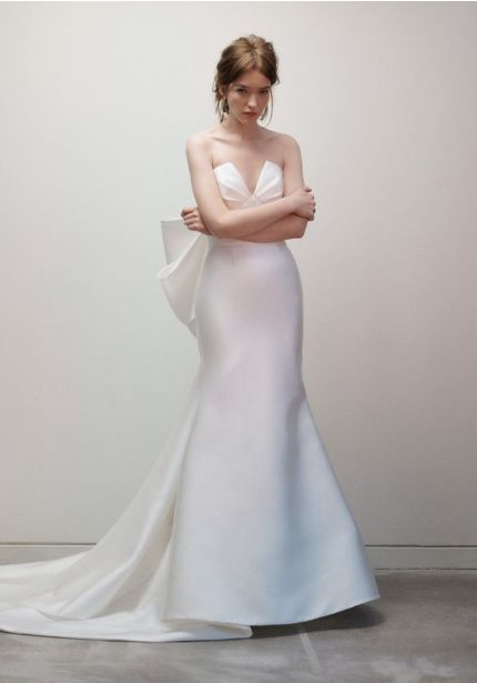 Mermaid Wedding Dress With Bow Back