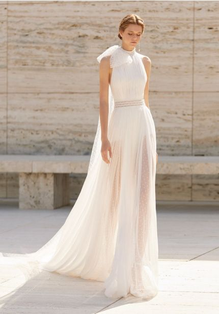 Goddess Style Wedding Dress With Bow