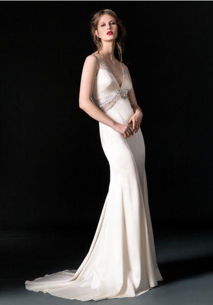 Embellished Mermaid Wedding Gown
