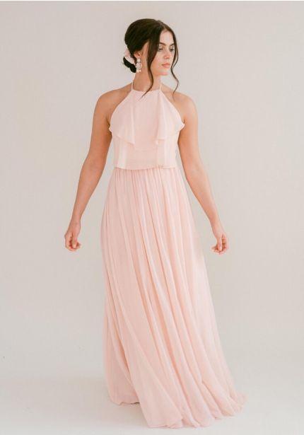 Double Ruffle Chiffon Bridesmaid Dress