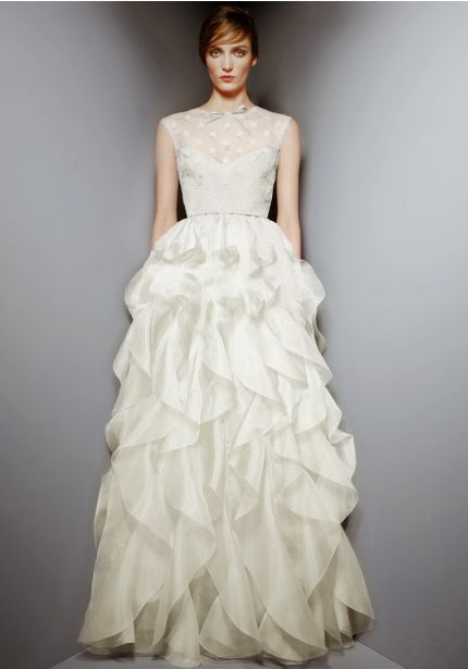 Ivory Ruffle Gown