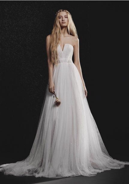 Draped Tulle Wedding Dress