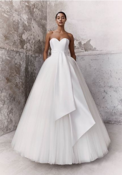 Graphic Sash Ball Gown